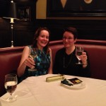 Celebrating my first sale with my agent, Helen Breitwieser